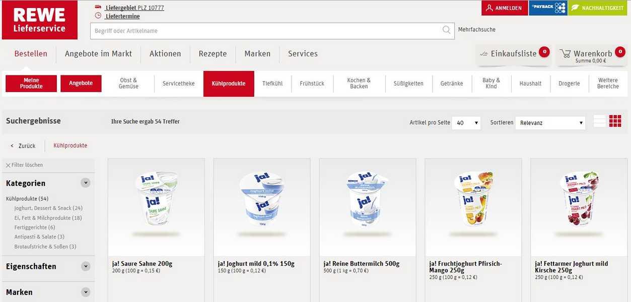 rewe lieferservice alle wichtigen eckdaten zum online. Black Bedroom Furniture Sets. Home Design Ideas