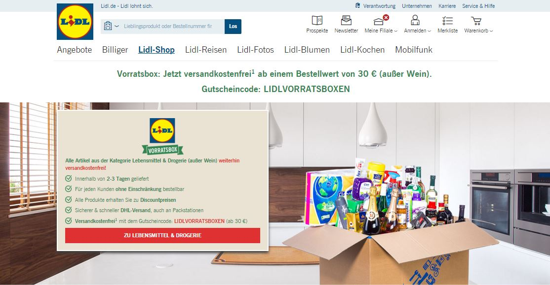 lidl online shop lidl vorratsbox alle wichtigen eckdaten im berblick. Black Bedroom Furniture Sets. Home Design Ideas
